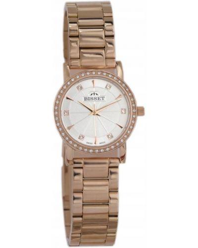Biały klasyczny szwajcarski zegarek Bisset