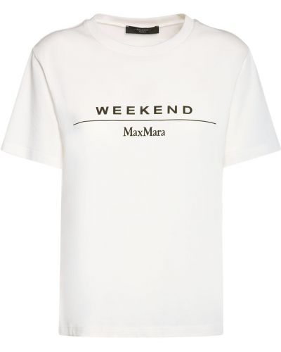 Лонгслив - белая Weekend Max Mara