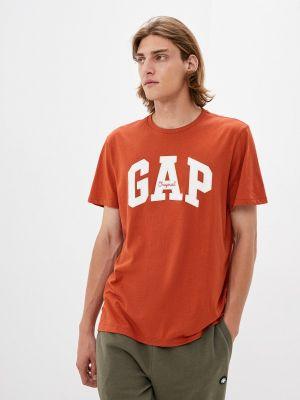 Оранжевая футболка с короткими рукавами Gap