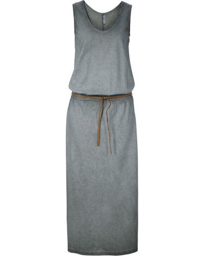 Платье с V-образным вырезом с вырезом Bonprix