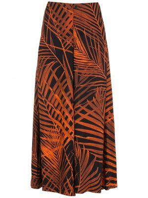 Czarne spodnie z wiskozy Osklen