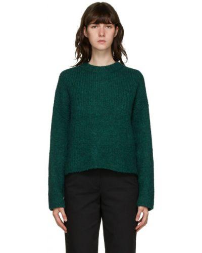 С рукавами зеленый длинный свитер с воротником из альпаки 3.1 Phillip Lim
