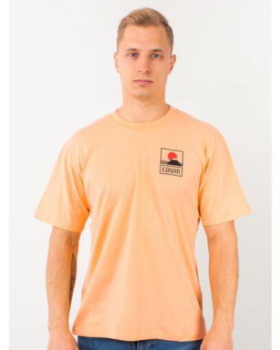Pomarańczowa t-shirt Edwin