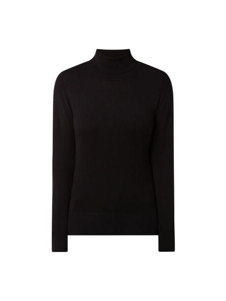 Prążkowany czarny sweter z wiskozy Kaffe