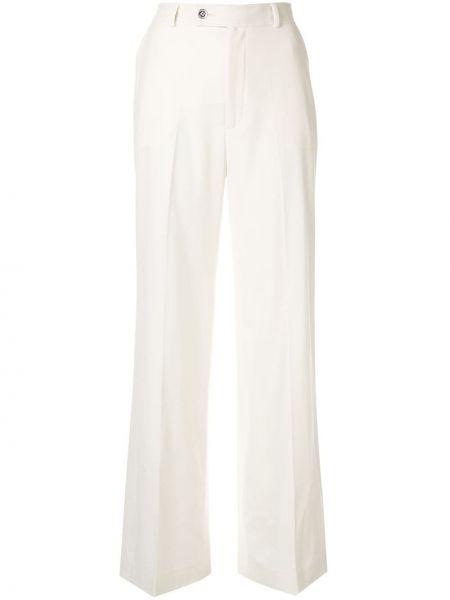 Шерстяные брюки - белые Giambattista Valli