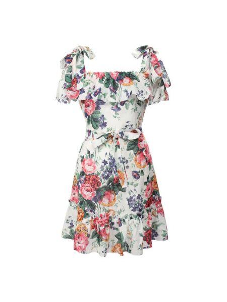 Платье мини на бретелях с цветочным принтом Zimmermann