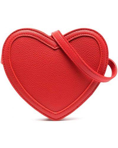 Красная с ремешком косметичка с заплатками Molo