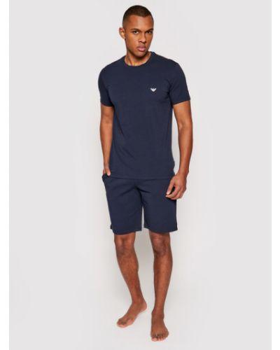 Piżama granatowa Emporio Armani Underwear