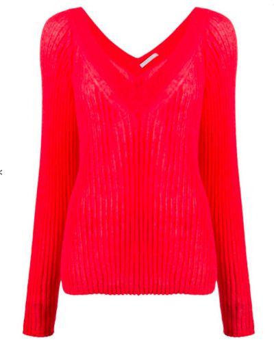 Sweter - czerwony Helmut Lang