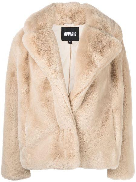 Beżowy płaszcz oversize Apparis