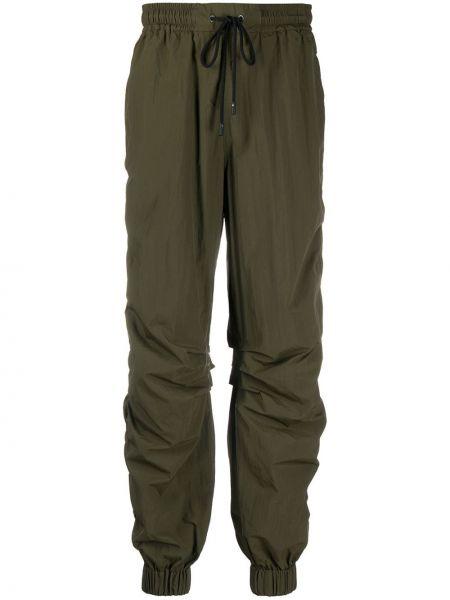 Прямые брюки с карманами милитари с оборками Iceberg