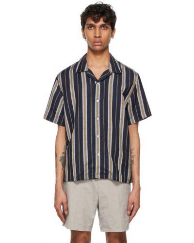Biała koszula krótki rękaw w paski Rag & Bone