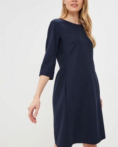 Платье осеннее синее Classik-t