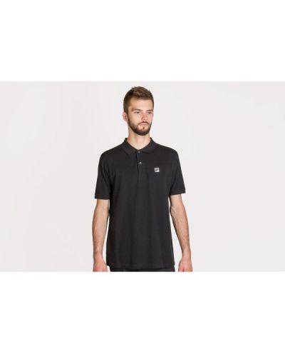 Czarna koszulka bawełniana Fila