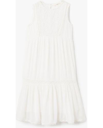 Белое платье Mango Kids
