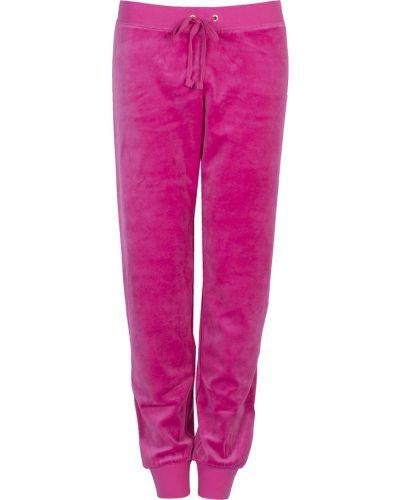 Różowe spodnie oversize Juicy Couture