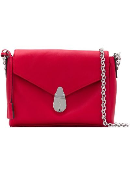 Красная сумка на цепочке Calvin Klein