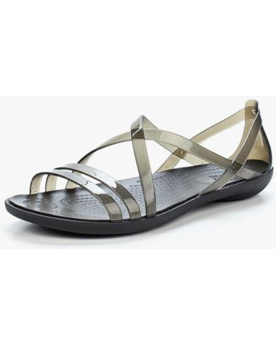 Черные спортивные сандалии Crocs