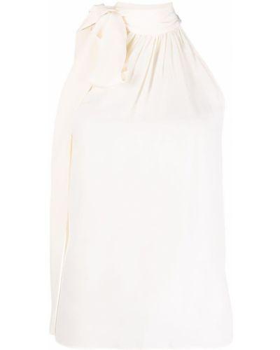 Шелковая блузка с бантом без рукавов Michael Michael Kors