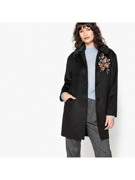 Пальто с вышивкой с воротником шерстяное Mademoiselle R