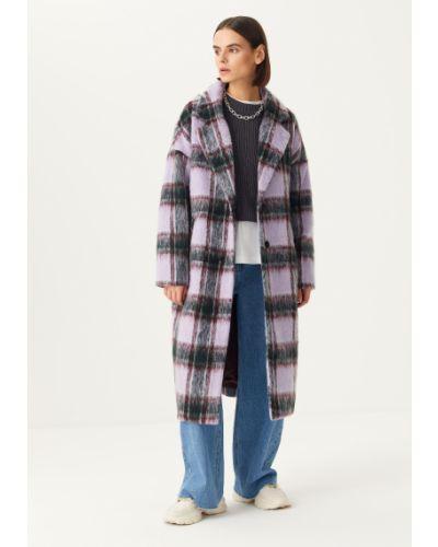 Фиолетовое пальто свободного кроя Sela