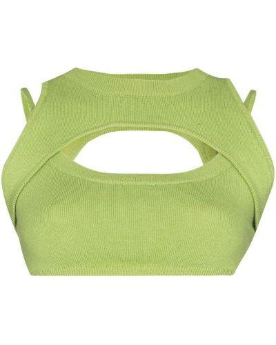 Zielona crop top bez rękawów wełniana Danielle Guizio