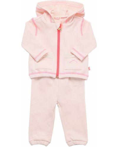 Хлопковые спортивные брюки - розовые Billieblush