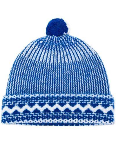 Вязаная шапка с помпоном трикотажная Burberry