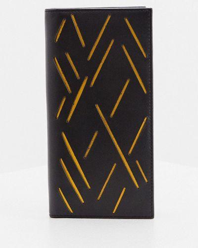 Черный кожаный портмоне Cerruti 1881