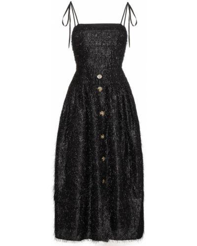 Платье с бахромой приталенное Rejina Pyo
