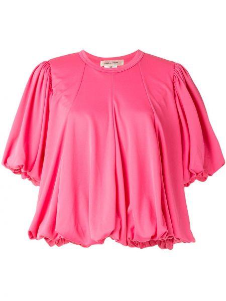 Różowy top krótki rękaw Comme Des Garcons