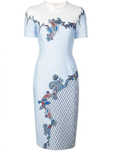 Облегающее платье мини - синее Yigal AzrouËl