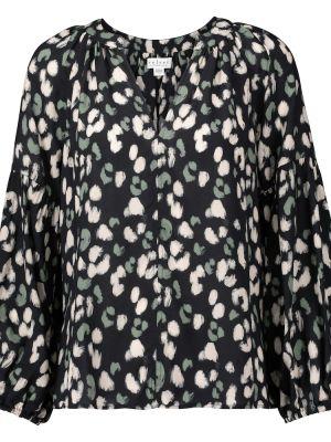 Klasyczna czarna bluzka z wiskozy Velvet