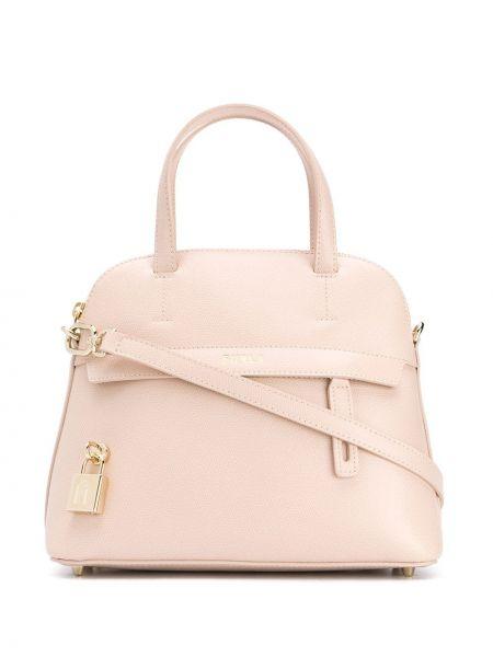 Кожаная сумка круглая сумка-тоут Furla