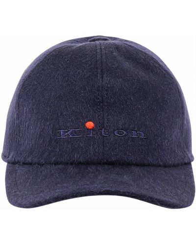 Niebieska czapka z daszkiem Kiton