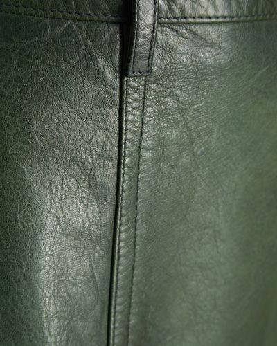 Юбка карандаш кожаная с карманами Prada