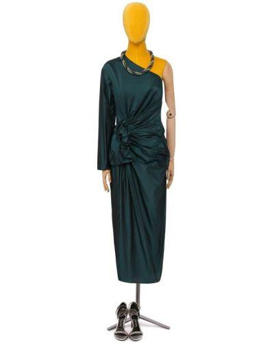Платье шелковое зеленый Lanvin
