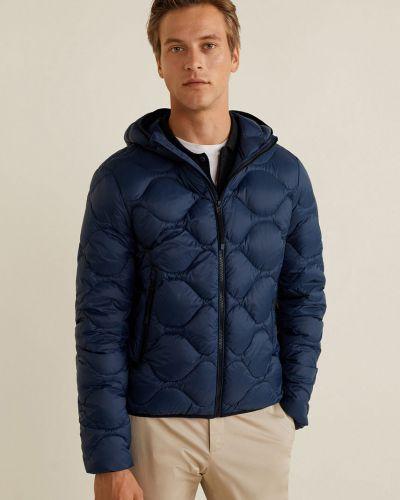 Утепленная куртка с капюшоном стеганая Mango Man