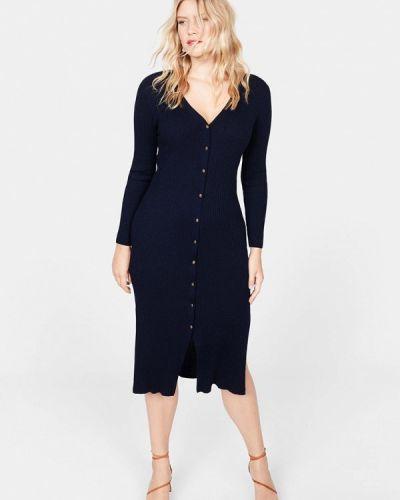 Повседневное платье осеннее синее Violeta By Mango