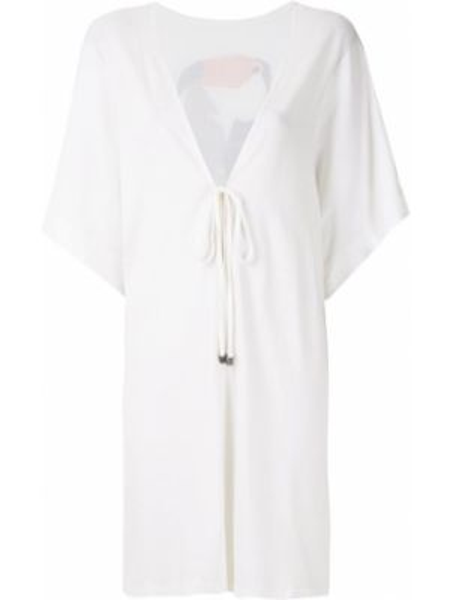 Белое прямое платье летучая мышь на шнуровке Track & Field