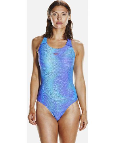 Голубой слитный купальник Speedo