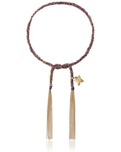 Малиновый золотой браслет свободного кроя Carolina Bucci