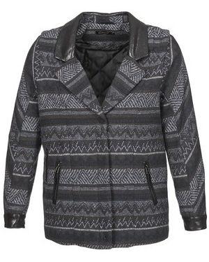 Czarny płaszcz przeciwdeszczowy Color Block