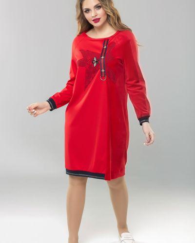 Кружевное с рукавами трикотажное спортивное платье Mari-line