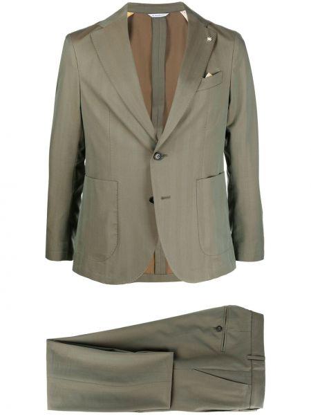 Klasyczny zielony garnitur wełniany Manuel Ritz