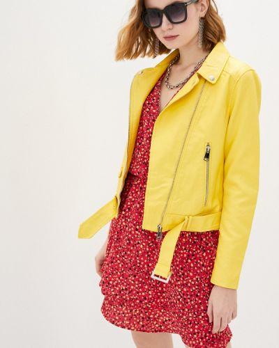 Желтая кожаная куртка Adrixx