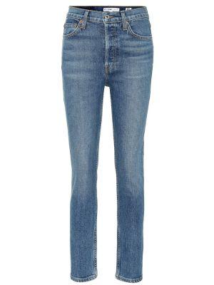 Джинсовые зауженные джинсы - синие Re/done