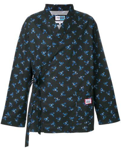 Рубашка с цветочным принтом с запахом Kenzo