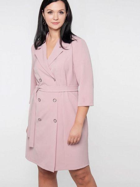Платье розовое платье-пиджак Лимонти