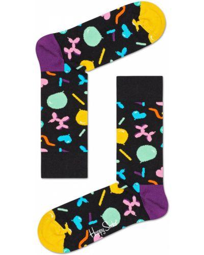 Желтые колготки с узором Happy Socks